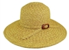 wholesale sun hats - wide brim straw cross braid with buckle