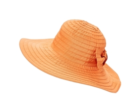 wholesale ribbon sun hats wide brim big bow