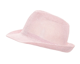 wholesale pink hats - knit fedora hat