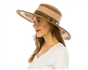 wholesale mixed braid and ribbon sun hat