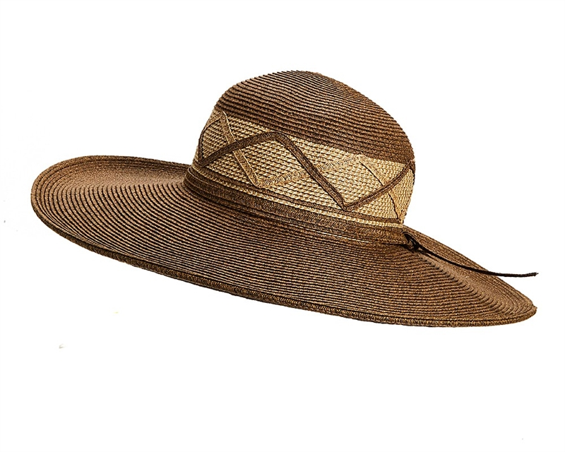 9122ef60e21ee wholesale sun hats wide brim straw hat with criss-cross band