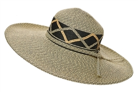 wholesale wide brim sun hats - bulk straw sun hats criss-cross band
