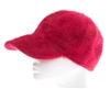 wholesale red angor fur baseball cap women's baseball hats and caps