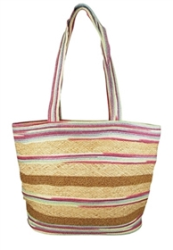 wholesale raffia tote bags - mixed straw beach bags