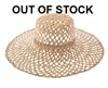 458-1 Flat Top Seagrass Sun Hat