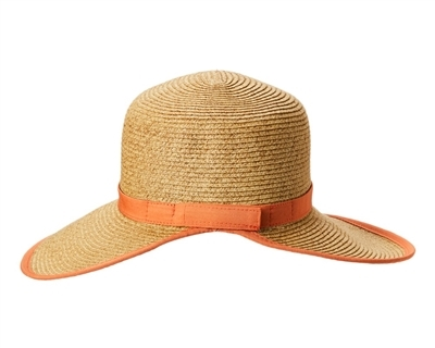 wholesale straw facesavers visor hats with contrast trim 3f92c675360