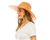 wholesale sun hats - toyo straw two-tone beach hat