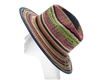 wholesale raffia straw panama hats - rainbow fedora