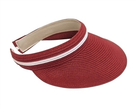 Wholesale Sun Visors - Clip-on Straw Visor