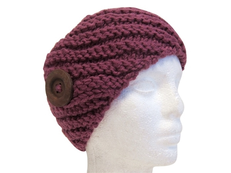 wholesale knit headbands wood button