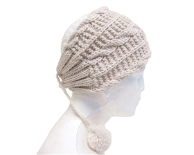 wholesale cable knit headwrap  poms