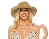 wholesale beach hats - seagrass crochet turn-up sun hat