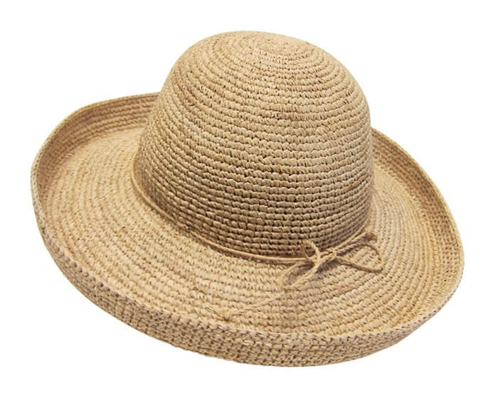 fed8851be2bf50 Wholesale Organic Raffia Straw Hats - Kettle Turn-Up Hat
