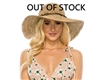 wholesale sun hats seagrass crochet hat wide brim with beads