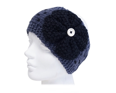Wholseale Knit Headband w/ Button and Clover