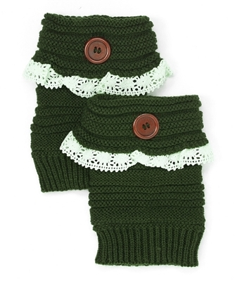 Wholesale Lace Boot Cuffs w/ Button