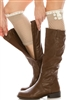 Wholesale Boot Socks Lightweight Lace Knit Boot Cuffs w/ Button
