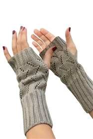 wholesale long gloves cable knit