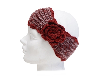 Wholesale Headband Heather Knit with Rosette