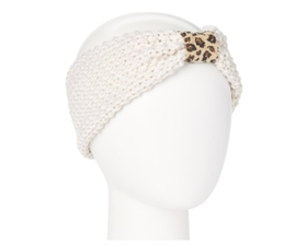 Wholesale Knit Headbands Headbands - with Leopard