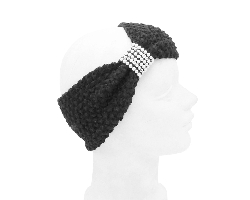 Wholesale Headbands - Black with Pearl Knot 65862aebb21