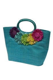wholesale sinamay purse  daisies