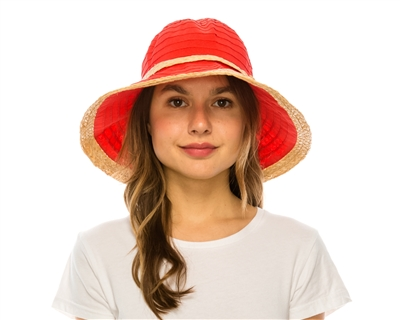 9350a50bf1d wholesale womens sun hats - packable kettle straw crusher hat good sun  protection