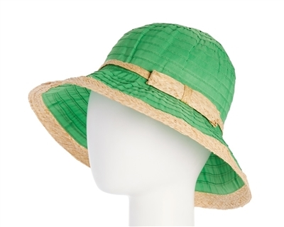 wholesale green sun hats - packable crusher hat - upf 50 sun protection womens hat