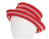 wholesale womens bucket hats stripes black grey fuchsia