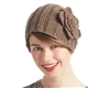 wholesale knit headbands - large headwrap with flower