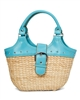 Wholesale Straw Purses and Handbags PVC Handle Purse