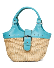 wholesale straw handbag with pvc handle