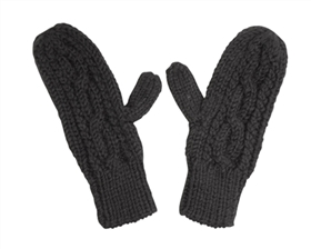 Wholesale Cable Knit Mittens with a Twist