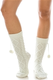 Wholesale Boot Socks w/ Pom Poms