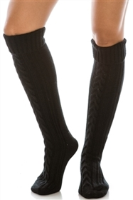Wholesale Long Cable Knit Boot Socks