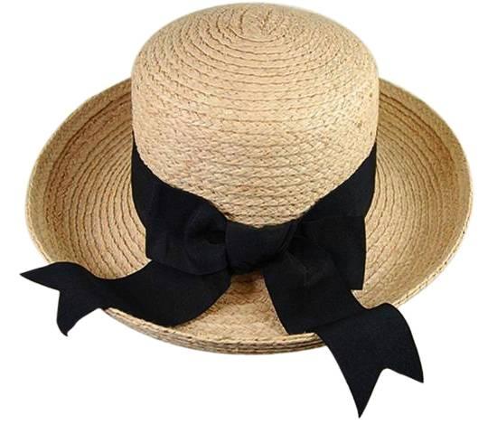 a0282886c4f543 508 Raffia Turn-Up Hat