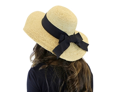 Wholesale Womens Sun Hats - Raffia Straw Wide Brim