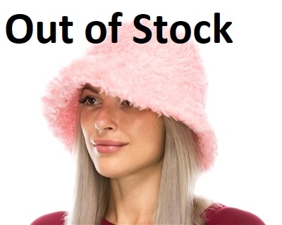 Wholesale Fuzzy Hats - Furry Winter Bucket Hat
