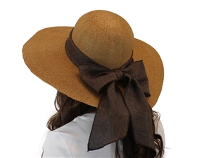 wholesale toyo straw sun hats with ribbon