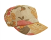 wholesale linen flower print cadet cap
