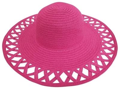 64ad1a24c6d 530 Wide Brim Sun Hat with Cutouts