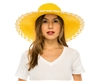 Wholesale Wide Brim Hats - Large Sun Hat Criss Cross Edge