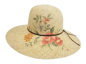 wholesale raffia sun hat  flowers