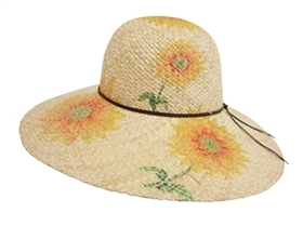 wholesale raffia straw sun hat  sunflowers