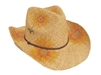 bulk straw cowboy hats wholesale raffia cowgirl drifter sunflowers hat