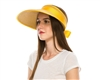 wholesale large straw visor back bow