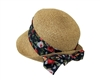 wholesale straw cloche hats with tie-back sash