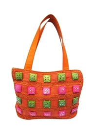 wholesale crochet handbag coconut shells