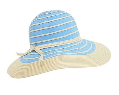 wholesale mixed braid wide brim sun hat