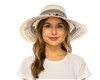 wholesale striped ribbon sun hat  beads